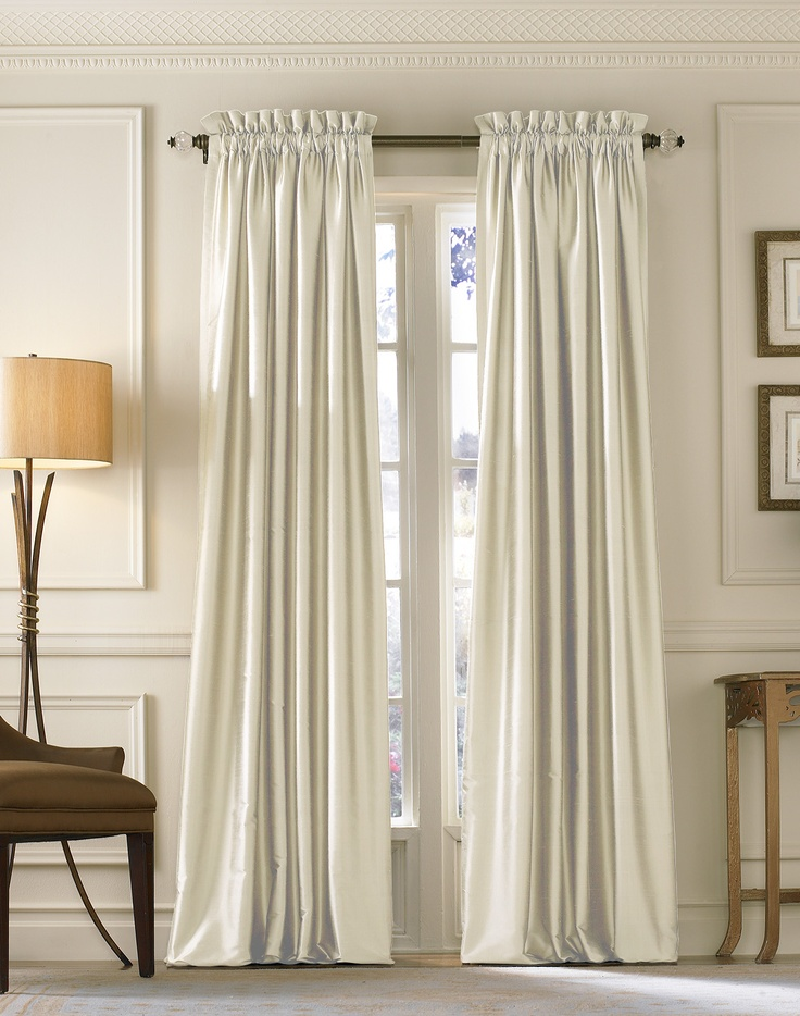 19 Silk Curtains Ideas