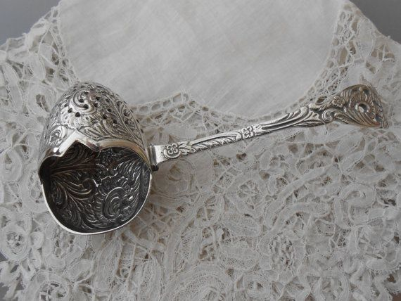 Antique tea strainer by Nkempantiques on Etsy, €25.00