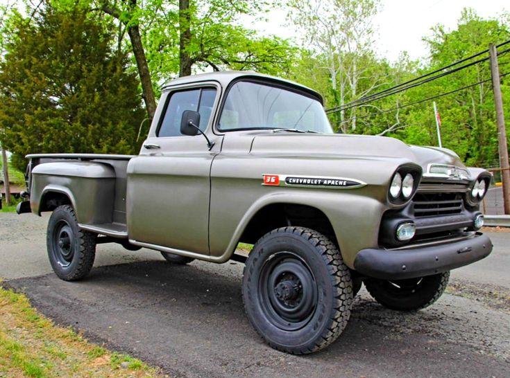 1959 chevy napco 4x4 pickup truck trucks gmc trucks