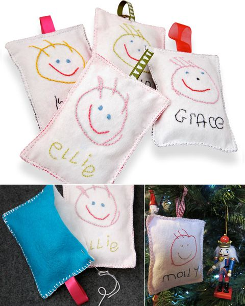 This is such a cute idea - great way to involve young kids in making gifts by hand...