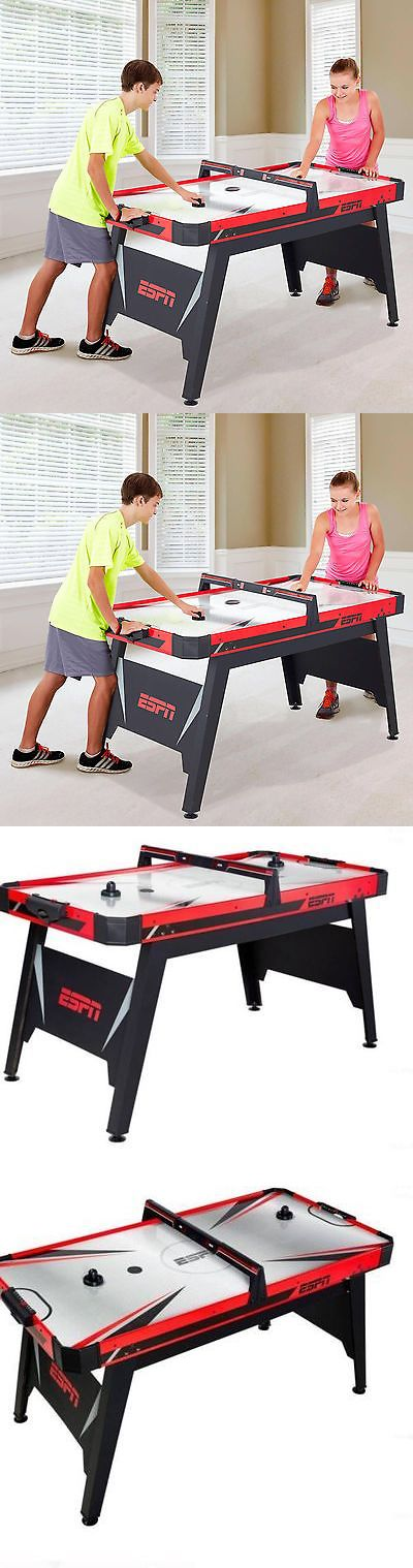 Air Hockey 36275: Espn 60 Air Powered Hockey Table 2 Pucks Pushers Game Room Red Puck Top New BUY IT NOW ONLY: $1104.49