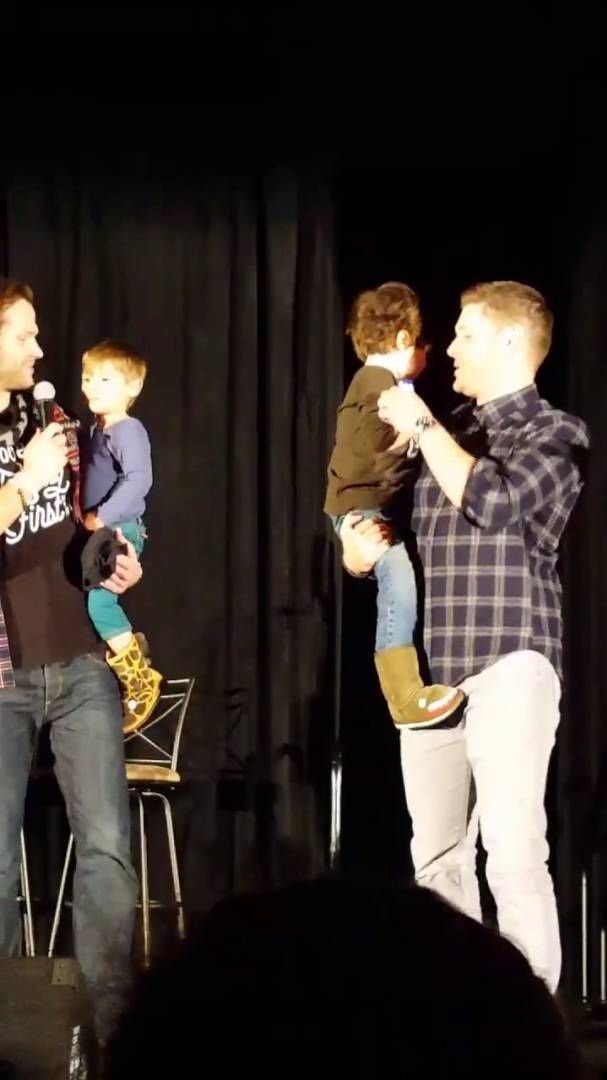 Jensen Ackles and Jared Padalecki and Shep and Tom! #seacon