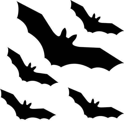 Coffret de chauve-souris Vampire Noir Oiseau Oiseaux fenêtre Protection des Oiseaux d'alerte autocollants Die Cut Tattoo Film décoratif:…