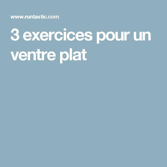 3 exercices pour un ventre plat