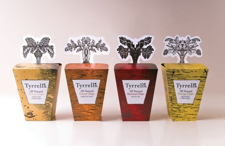 Tyrrells Vegetable Crisps | Free Flavour #packaging #design