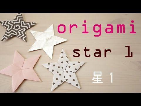 origami star 1 折り紙 星 1 - YouTube