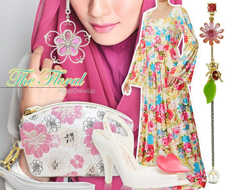 Hijab Dress Up #Style #Floral