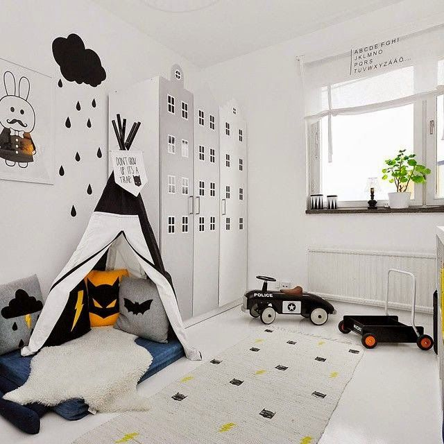 the boo and the boy: black and white kids' rooms:
