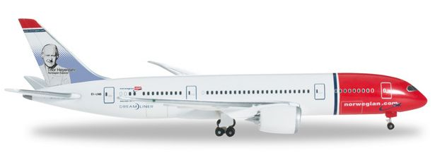 1/500 Herpa Norwegian Air Shuttle Boeing 787-8 Dreamliner Diecast Model
