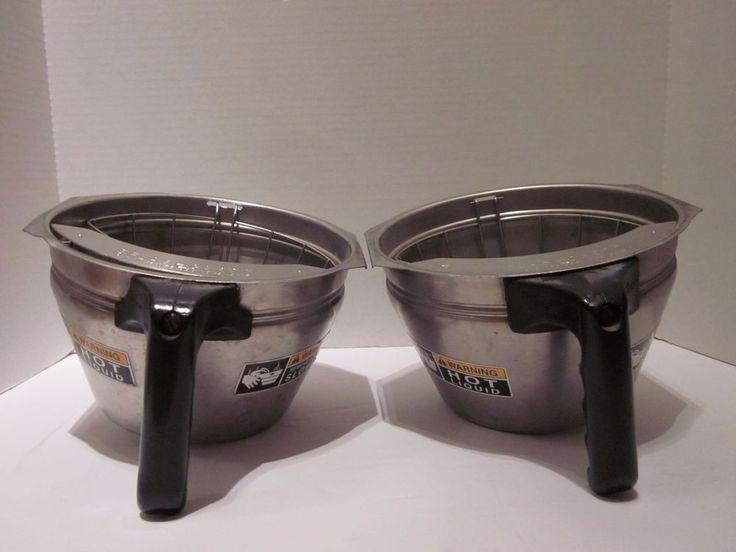 two bunn coffee maker stainless steel filter funnels with splashgard holder - Bunn Coffee