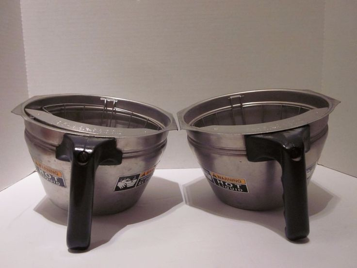 Two Bunn Coffee Maker Stainless Steel Filter Funnels with Splashgard Holder #Bunn #Coffee