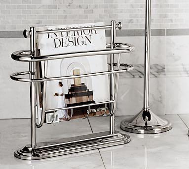 Bathroom magazine rack brushed nickel woodworking Bathroom corner shelf brushed nickel