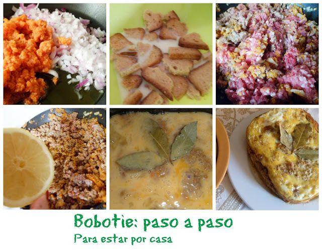 Para estar por casa: Bobotie {Sudáfrica} #bobotie #Sudáfrica #pastelsalado #panificadora #recetasenpanificadora #carne #carnepicada #huevos #tortilla #arroz #recetas #especias #pasoapaso