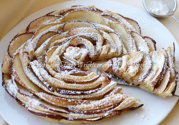 Torta spirale mele e pasta sfoglia