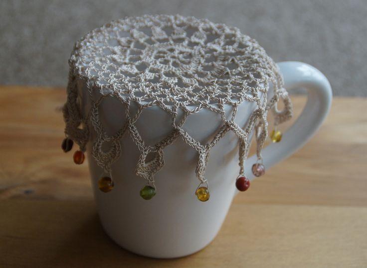 Coffee Cream Vintage Inspired Crochet Jug Cover