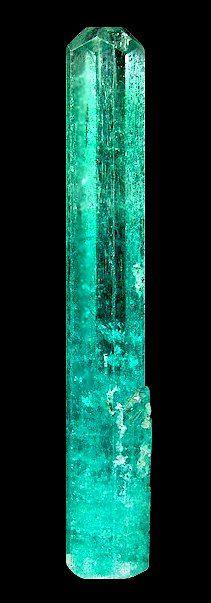 Beryl (Emerald) with tiny quartz and muscovite crystals. Nandu Min, Nandu village, Kaduna State, Nigeria