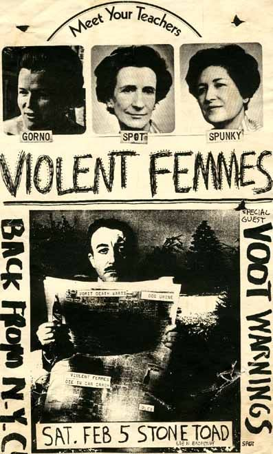 violent femmes music gig posters | Milwaukee Rock Posters - Violent Femmes