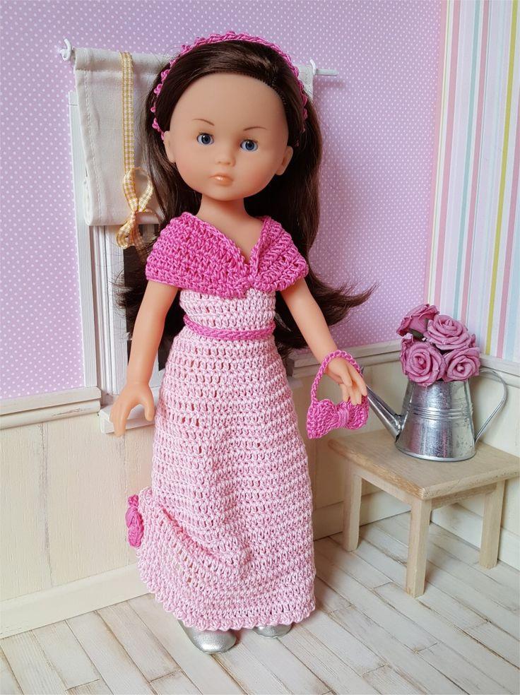 122- FICHE PATRON CROCHET Robe de bal pour poupée Chérie de Corolle ou Paola Reina : Jeux, jouets par atelier-crochet