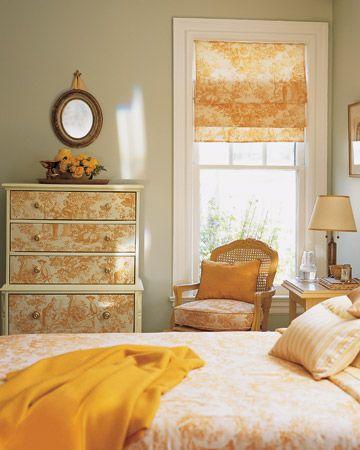 Toile de jouy en orange