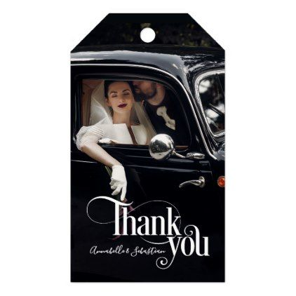 Thank You Photo Overlay Desire Gift Tags - wedding thank you gifts cards stamps postcards marriage thankyou