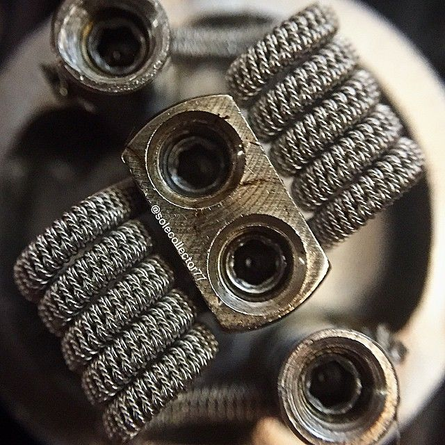 How clean are your builds?? Had to give this another go...vapes like a champ!! Specs: 2/26 #AN80 spaced Clapton with 36g and fused together with 3/38g twisted dual coil 0.12ohms