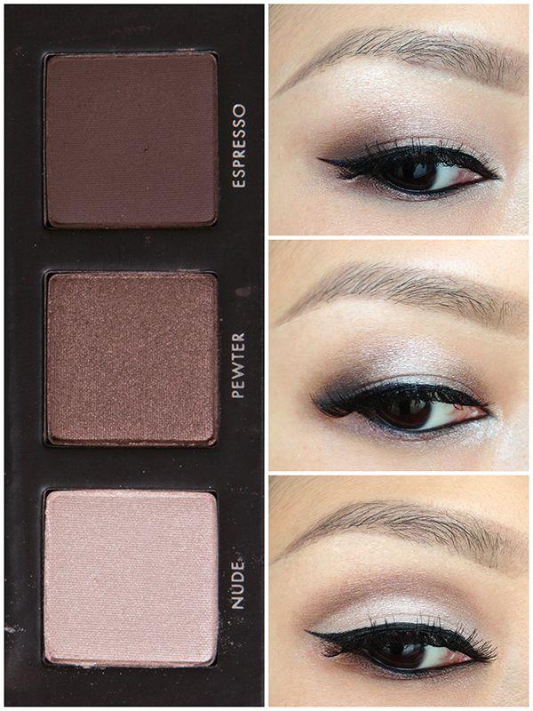 LORAC Pocket Pro Palette, 3 shades, multiple looks. Smokey eye looks for almond eyes.