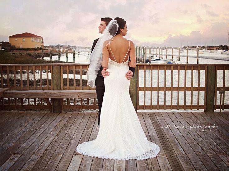 River house wedding st augustine fl sunset for Wedding dress jacksonville fl