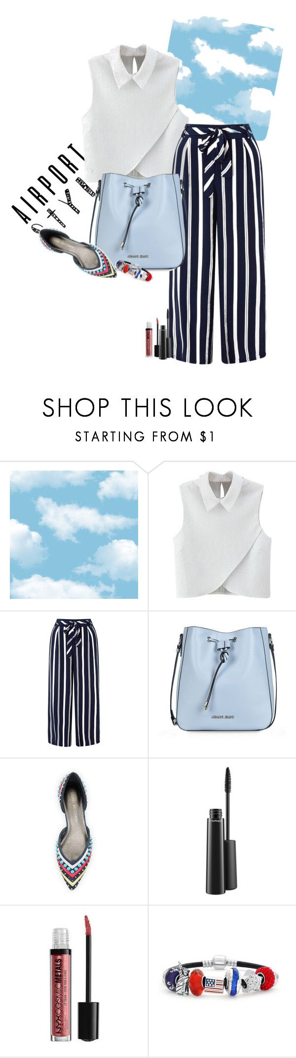 """""""On AIR"""" by claire86-c on Polyvore featuring moda, WithChic, Monsoon, Armani Jeans, Stuart Weitzman, MAC Cosmetics, Bling Jewelry, contest, polyvorecommunity e contestentry"""