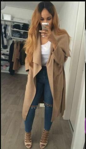 Ladies Celebrity Inspired Waterfall Coat Various Colours Available