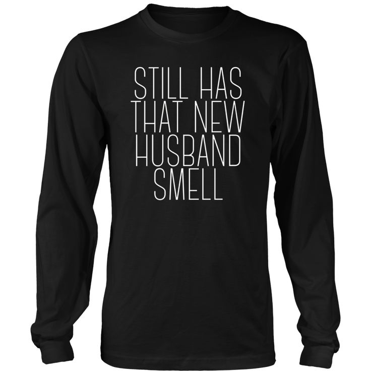That New Husband Smell TShirt Married Funny Wedding Gifts