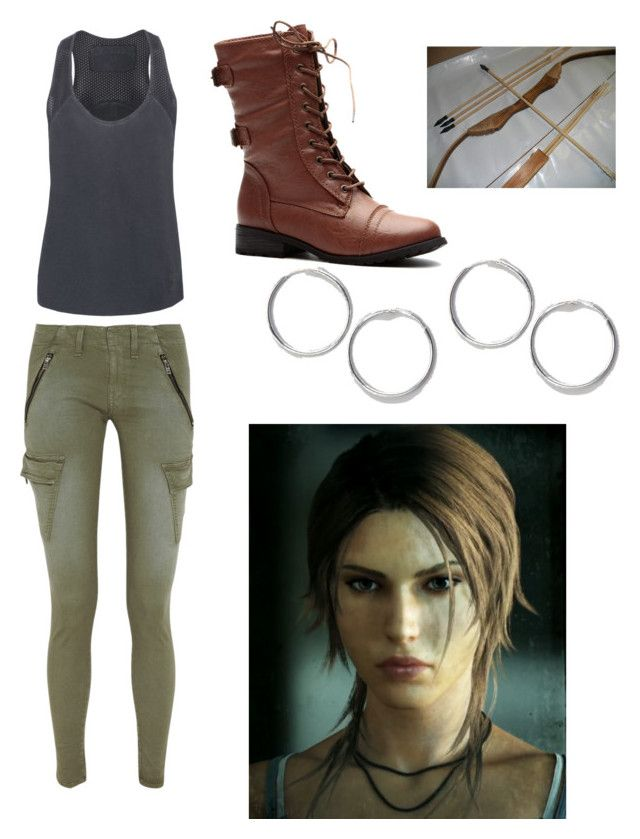 """""""Lara Croft tomb raider inspired outfit"""" by senpai-chan ❤ liked on Polyvore featuring rag & bone/JEAN and LARA"""