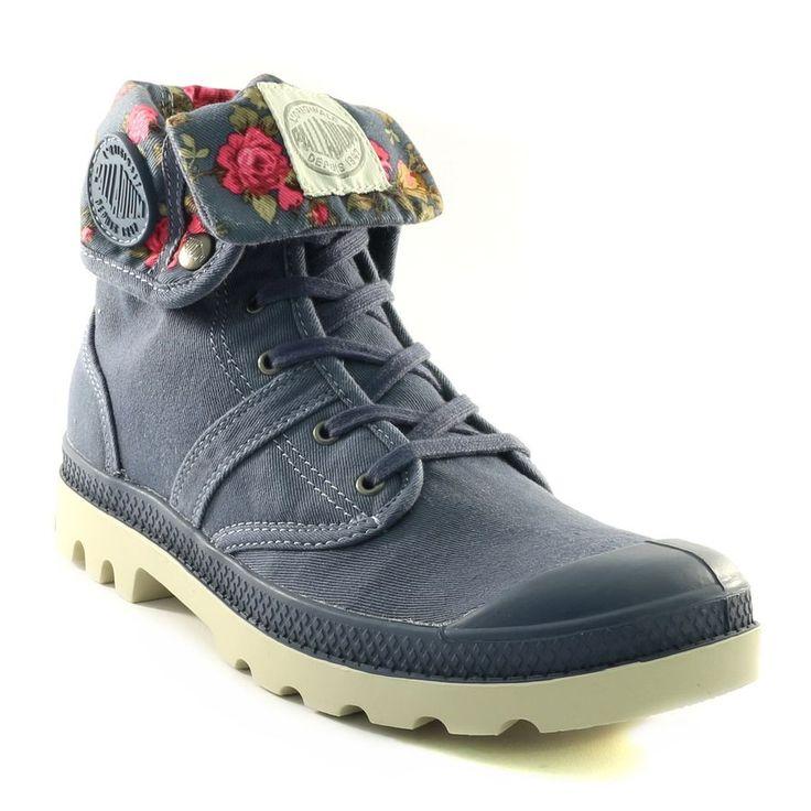 692A PALLADIUM BAGGY COSMOS FLOWER BLEU www.ouistiti.shoes le spécialiste internet de la chaussure bébé, enfant, junior et femme collection printemps été 2015