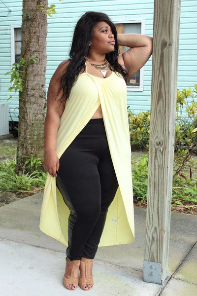 Plus Size Clothing for Women - Long Wrap Halter Top - Buttercup (Sizes 14 - 20) *Stretches to size 24* - Society+ - Society Plus - Buy Online Now! - 2