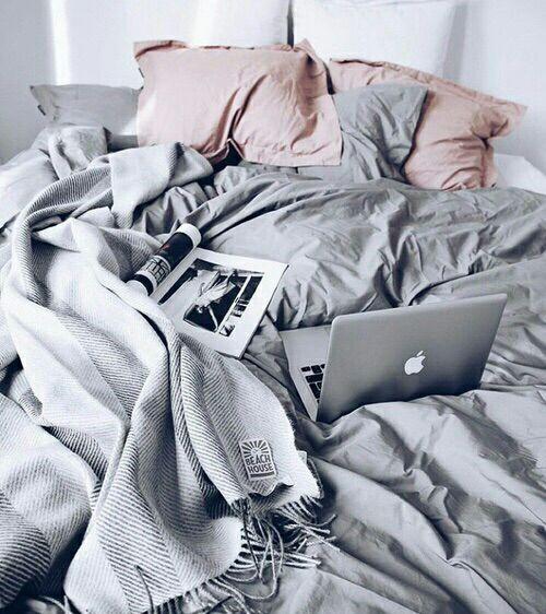 Grey and pink sheets