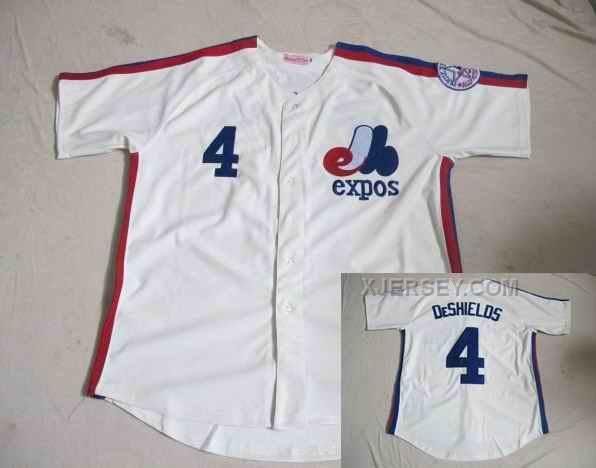 http://www.xjersey.com/montreal-expos-4-deshields-white-jerseys.html MONTREAL EXPOS 4 DESHIELDS WHITE JERSEYS Only $34.00 , Free Shipping!