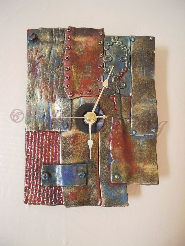 Salvage Clock - Polymer Clay by AliatheGhoul on DeviantArt