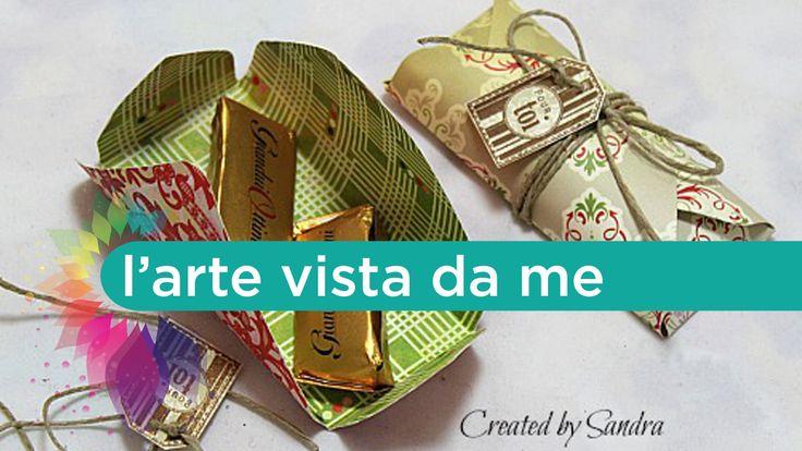 Scrap Tutorial:Scatoline porta cioccolatini con envelope punch board - b...