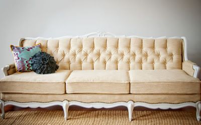 blue roof cabin: The Vintage Sofa Project