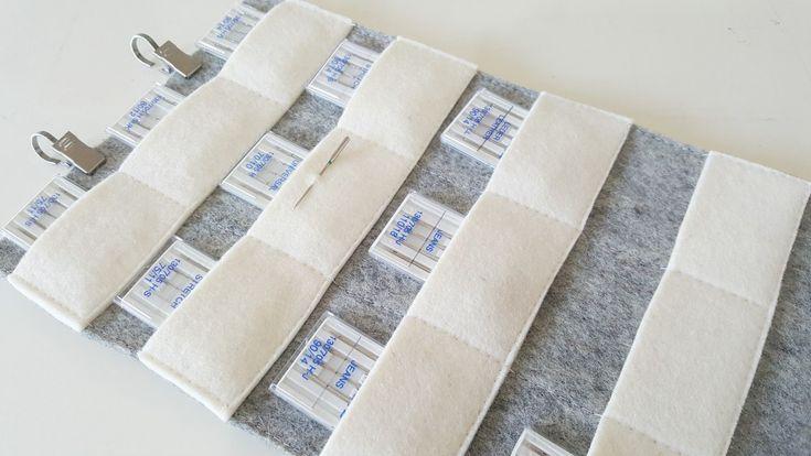 Tutorial: Felt sewing machine needle organizer