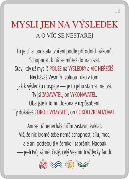 Portál pro osobní rozvoj změnou podvědomí a vlastní přitažlivosti: Člověče, poznej se — 18/24: Mysli jen na výsledek