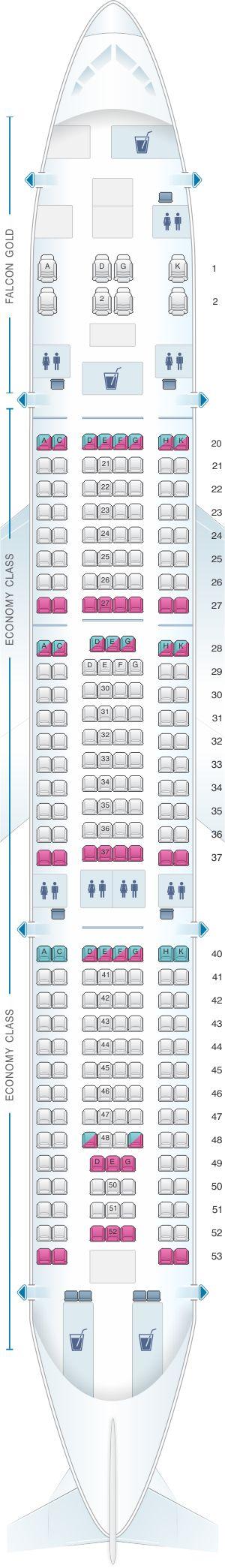 Seat Map Gulf Air Airbus A330 200 Config. 1