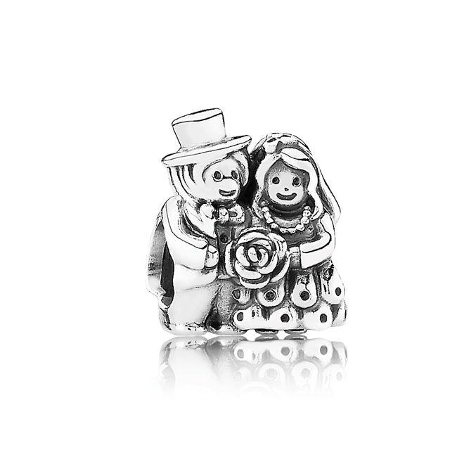 Pandora Wedding Charms | Home > NEW PANDORA CHARMS! > Pandora Mr. & Mrs. Wedding Charm (342924)