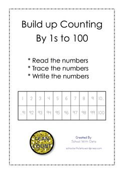 This has been designed for kids who are / have learnt to count to twenty and need to build up their counting to 100.These sheets are designed to build kids confidence step by step, first they count starting from 1 to 10, then to 20, then to 30, then to 40, then to 50, then to 60, then to 70, then to 80, then to 90, then to 100.I have also included a Certificate of Achievement which can be awarded to students on the successful completion of these worksheets.