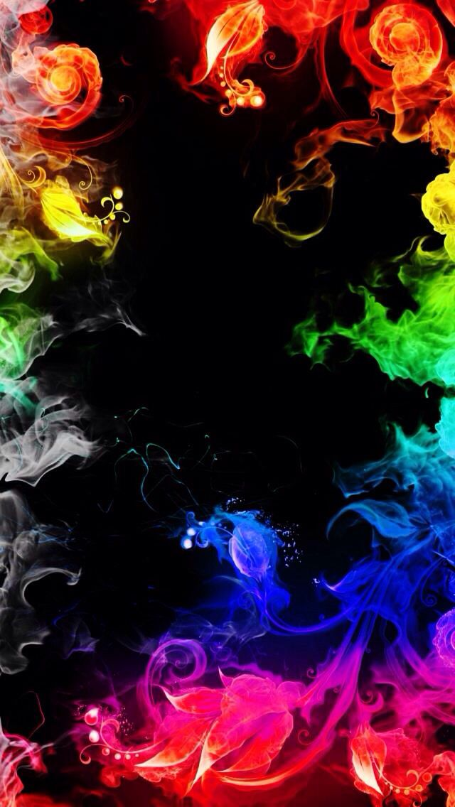 COLORFUL FIRE FLAMES - IPHONE WALLPAPER BACKGROUND