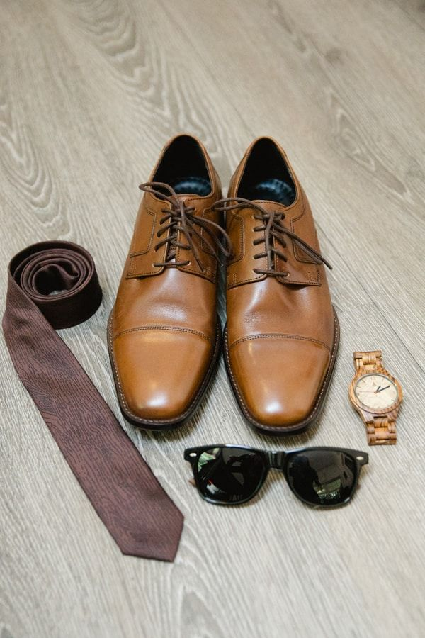 grooms-accessories-brogues-tie-watch-sunglasses   Groom Outfits in