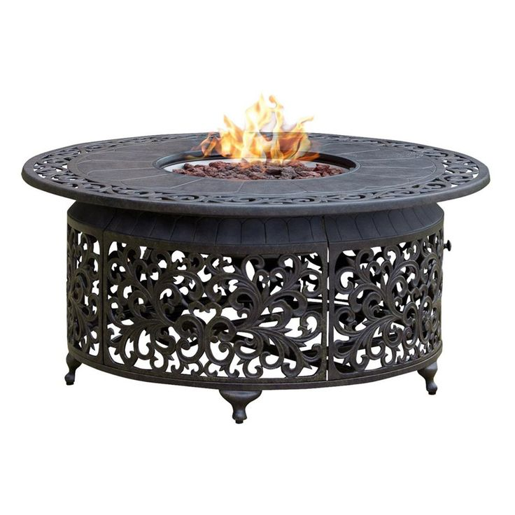 Shop paramount fp 251 round outdoor propane fire pit table for Table 52 prices