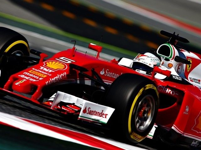 Ferrari's Sebastian Vettel finishes fastest in the first practice session of the Spanish Grand Prix.