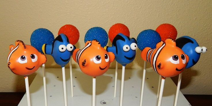 how to make finding nemo cake pops