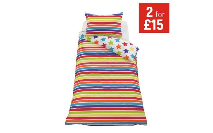 Buy ColourMatch Star and Stripe Children's Bedding Set - Single at Argos.co.uk - Your Online Shop for Children's bedding sets, Bedding, Home and garden.