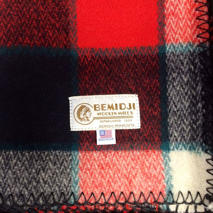 A cool Minnesota night calls for a cozy wool blanket from Bemidji Woolen Mills a Minnesota landmark since 1920. #OnlyinMN